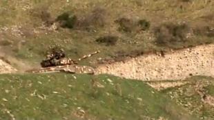 Au moins 30 soldats ont été tués à la frontière du Haut-Karabakh, une région séparatiste d'Azerbaïdjan à majorité arménienne, le 2 avril 2016.
