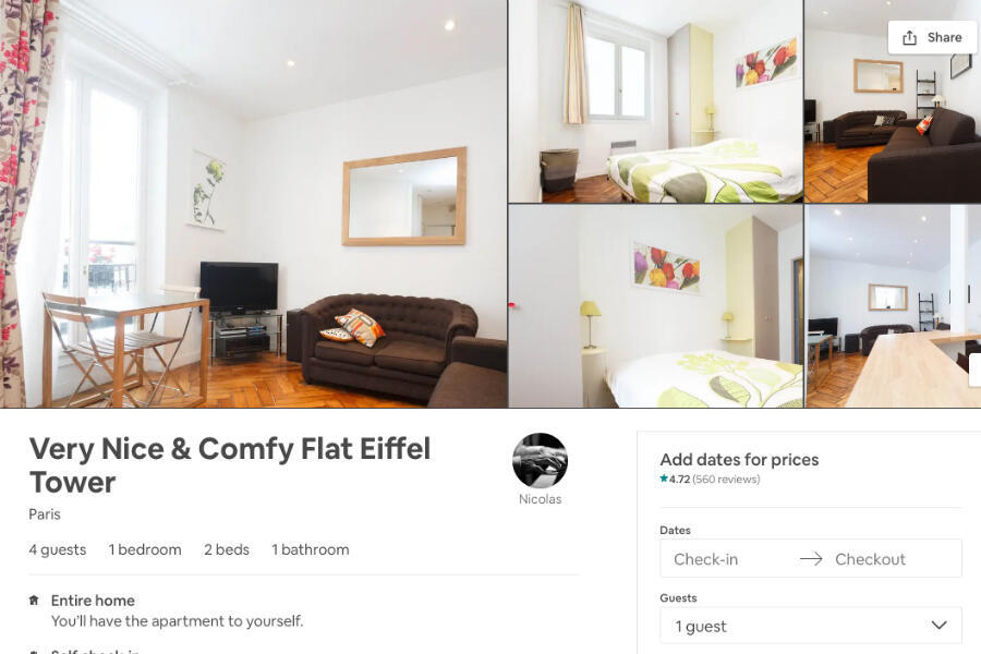 One of Nicolas Tsaros's rental listings on Airbnb.