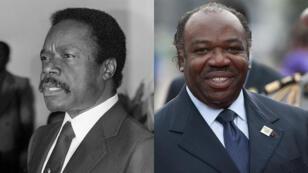 Omar Bongo lors d'une allocution en 1980 à l'ambassade du Gabon à Paris.