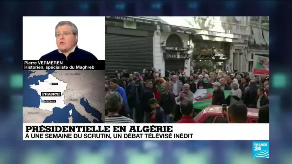 """2019-12-06 14:34 Débat présidentielle en Algérie: Beaucoup ne veulent pas regarder"""" , Pierre Vermeren"""