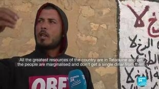 Naji Lamari, 33, is unemployed and frustrated by the lack of prospects in resource-rich Tataouine, Tunisia.