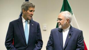 John Kerry et Mohammad Javad Zarif, le 26 septembre au siège de l'ONU.