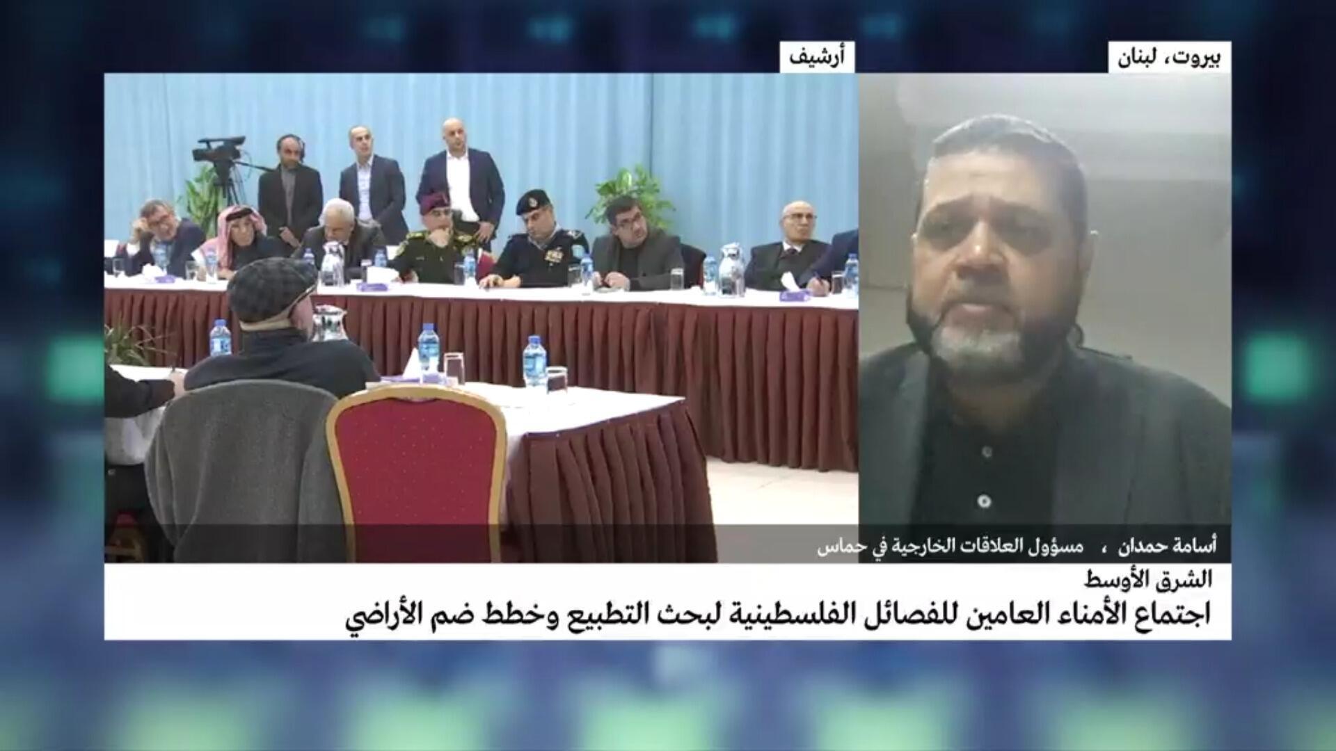 صورة لمسؤول العلاقات الخارجية في حماس أسامة حمدان