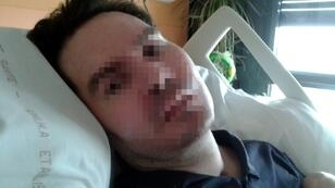 Vincent Lambert, seen here in June 2015 in a photo released by his family, has been in a vegetative state for the past 11 years
