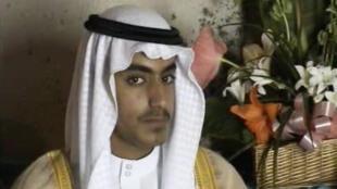 Capture d'écran d'une vidéo de la CIA montrant Hamza Ben Laden, datant du 1er novembre 2017.
