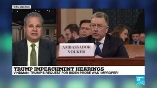 """2019-11-19 23:33 Trump impeachment hearings: """"This is a big issue in the campaign"""""""