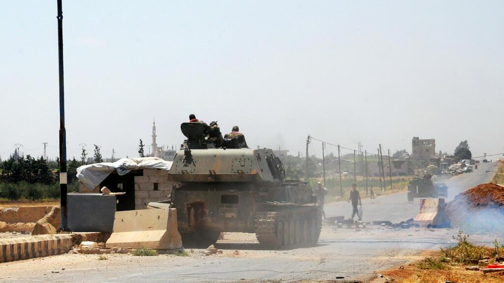 Fuerzas militares sirias deberán retirarse de la zona de Deraa luego del alto al fuego acordado el viernes 6 de julio. Julio 5 de 2018.