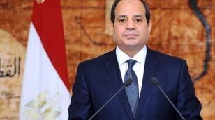 Abdel Fattah al-Sissi lors de son discours à l'occasion du cinquième anniversaire de la destitution de Mohammed Morsi, le 30 juin 2018.