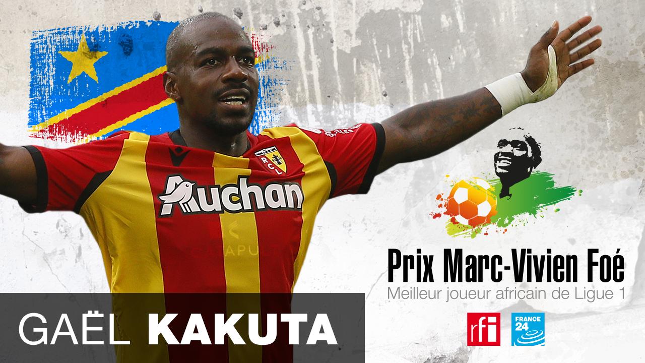 Prix Marc-Vivien Foé 2021 : le Congolais Gaël Kakuta élu joueur africain de l'année en Ligue 1