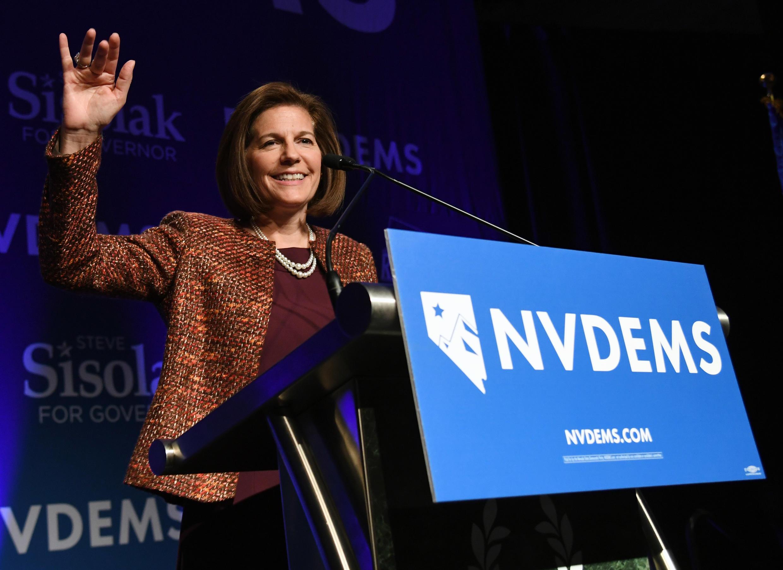 Catherine Cortez Masto in Las Vegas, Nevada on November 6, 2018.