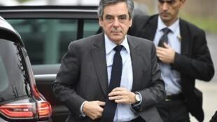 مرشح اليمين للرئاسة الفرنسية فرانسوا فيون في 27 شباط/فبراير 2017
