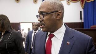 Le Premier ministre haïtien, Jack Guy Lafontant, photographié peu avant l'annonce de sa démission.