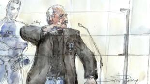 Carlos devant la cour d'assises, le 28 mars 2017.