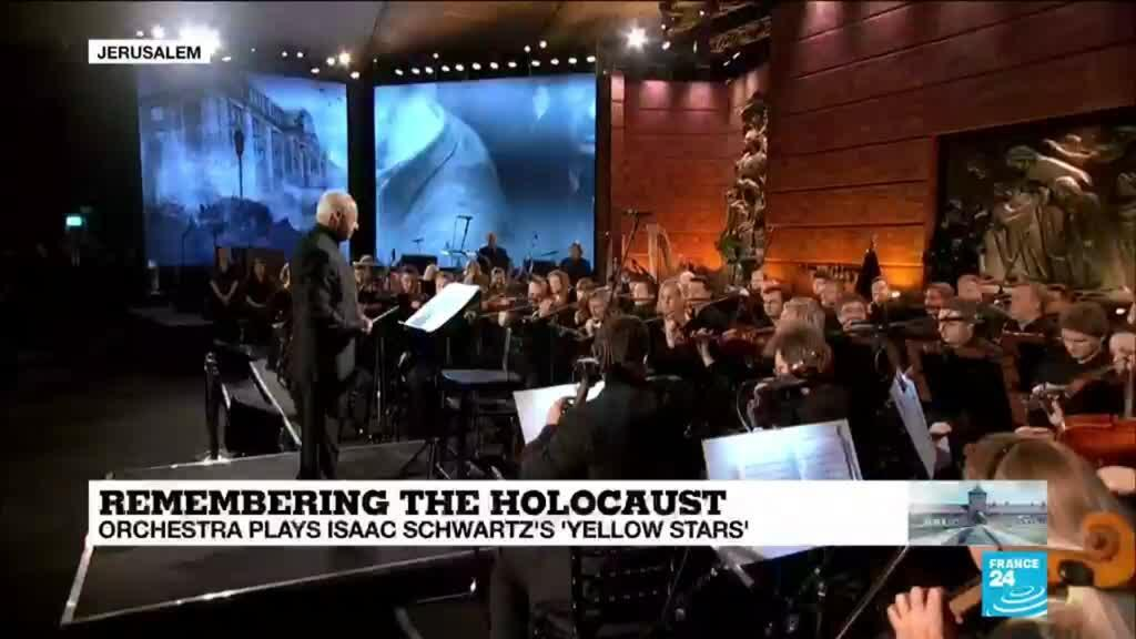 2020-01-23 14:11 Remembering the Holocaust: Orchestra plays Isaac Schwartz's 'Yellow stars' at Yad Vashem