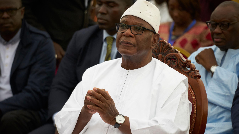 En esta foto de archivo tomada el 10 de agosto de 2018, el presidente en ejercicio de Malí, Ibrahim Boubacar Keita.