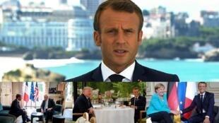 أبرز اللقطات من أنشطة الرئيس الفرنسي على هامش قمة مجموعة السبع في بياريتس الفرنسية.