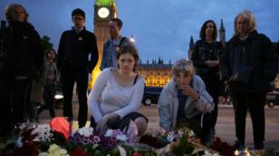 وضع زهور في ساحة البرلمان في لندن تكريما للنائبة المغتالة جو كوكس 16 حزيران/يونيو