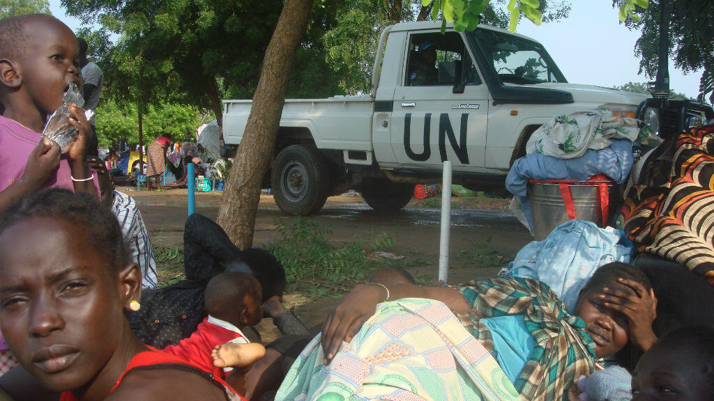 Camp de déplacés sud-soudanais à Juba, le 11 juillet 2016.
