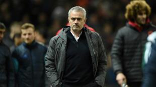 L'entraîneur de Manchester United José Mourinho, en mars 2017.