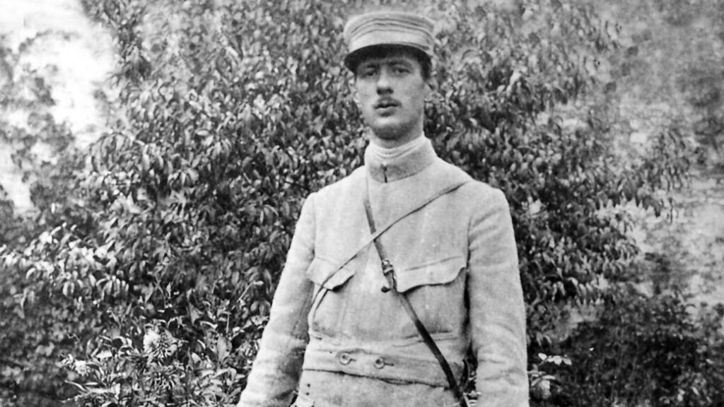 Le capitaine Charles de Gaulle en 1915.