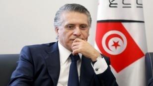 نبيل قروي رجل الأعمال وصاحب قناة نسمة الخاصة ومرشح للانتخابات الرئاسية في تونس، 2 أغسطس/آب 2019.