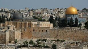 لقطة للبلدة القديمة في القدس تظهر أجزاء من المسجد الأقصى بتاريخ 4 حزيران/يونيو 2019