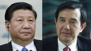 Le président chinois Xi Jinping et son homologue taïwanais Ma Ying-jeou.