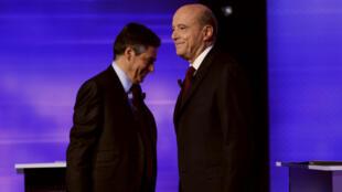 Alain Juppé et François Fillon, le 24 novembre 2016