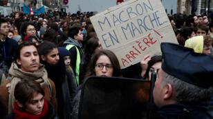 Manifestation de lycéens, le 11 décembre 2018, à Paris.