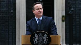 David Cameron, samedi 20 février 2016, devant le 10 Downing Street pour annoncer la date du référendum sur l'appartenance du Royaume-Uni à l'Union européenne.