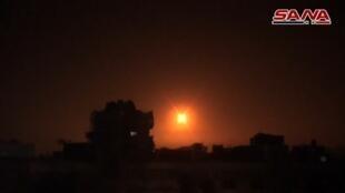 دفاعات جوية سورية تتصدى لصواريخ اسرائيلية 14 شباط/فبراير 2019