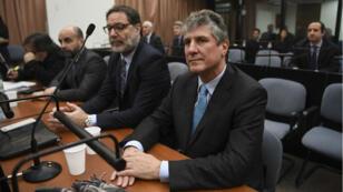 L'ancien vice-président argentin Amado Boudou lors de son procès pour corruption à Buenos Aires, le 7 août 2018.