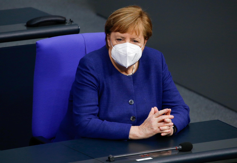 La chancelière allemande Angela Merkel au Bundestag, le 8 décembre 2020.