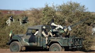 Des soldats maliens dans la région de Gao, en janvier 2017.