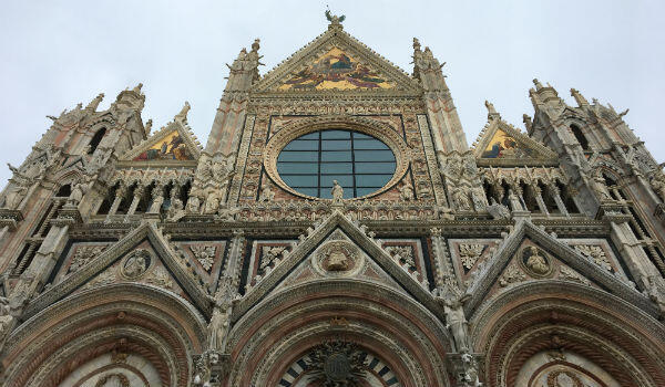 Siena's sumptuous cathedral, the Duomo, dominates the city's medieval centre, a UNESCO World Heritage Site.