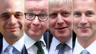 Sajid Javid, Michael Gove, Boris Johnson et Jeremy Hunt sont les derniers candidats en lice.
