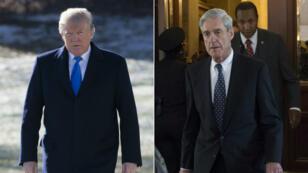 Le président américain Donald Trump et le procureur spécial Robert Mueller.
