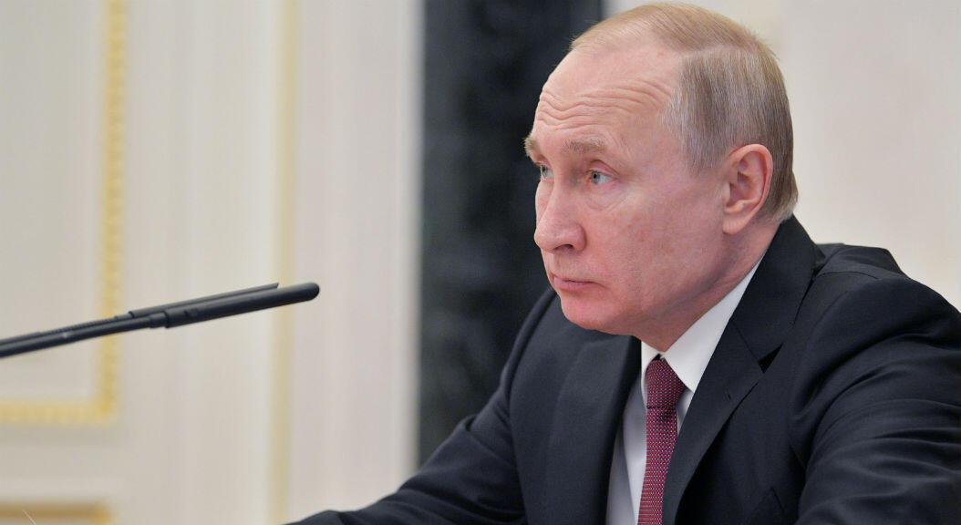 El presidente de Rusia, Vladimir Putin, durante una reunión con su gabinete, en Moscú, el 29 de abril de 2019.