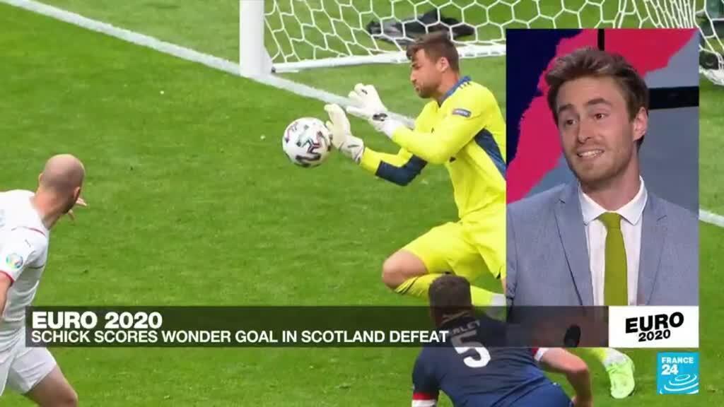 2021-06-14 20:20 Euro 2021: Brilliant Schick sends returning Scotland to defeat ahead of Spain opener