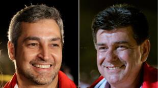 De acuerdo a la intensión de voto, Mario Abdo (izq.) o Efraín Alegre (der) son los más opcionados para llegar a la presidencia de Paraguay