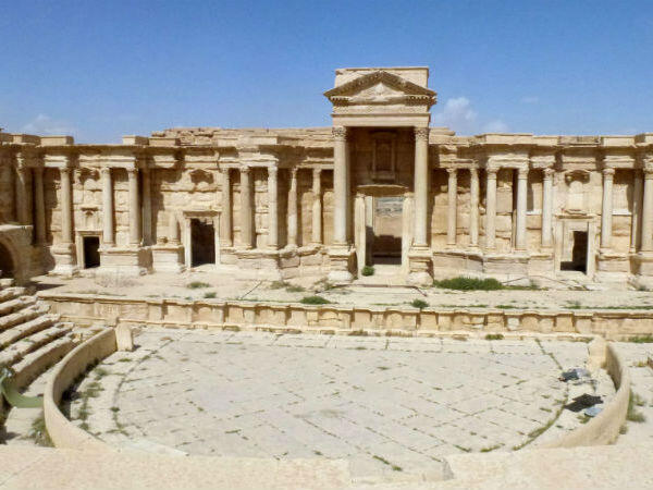 Palmyra's ancient theatre was among the archaelogical sites left intact by the Islamic State group.