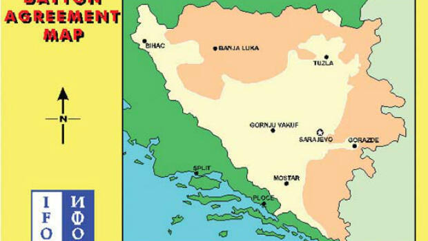 Los acuerdos de Dayton puso fin al conflicto bosniaco