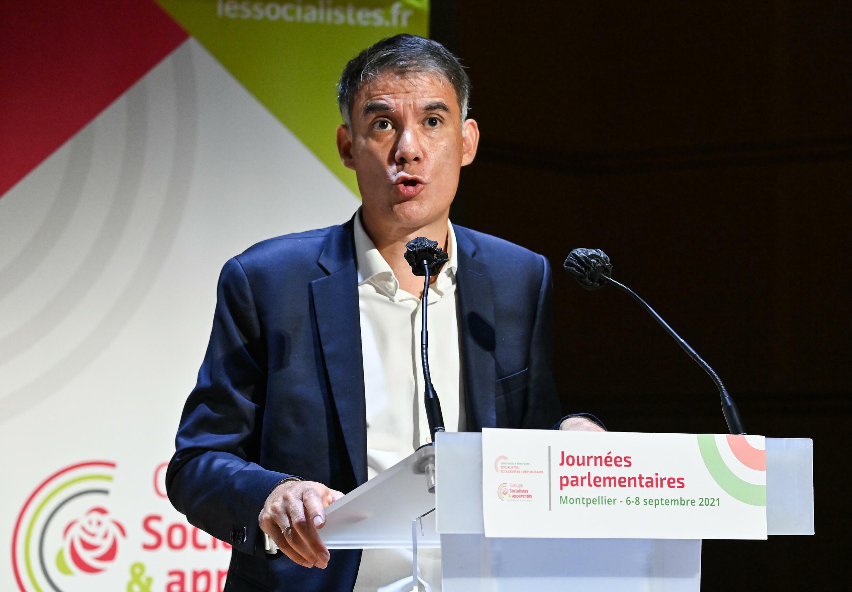 Le Premier secrétaire du Parti socialiste, Olivier Faure, lors des journées parlementaires du PS à Montpellier, le 7 septembre 2021