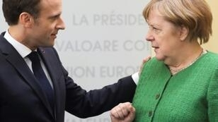 French President Emmanuel Macron and German Chancellor Angela Merkel are at loggerheads over who will be the next European Commission president