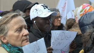 Manifestation en octobre 2019 devant le tribunal administratif de Montreuil.