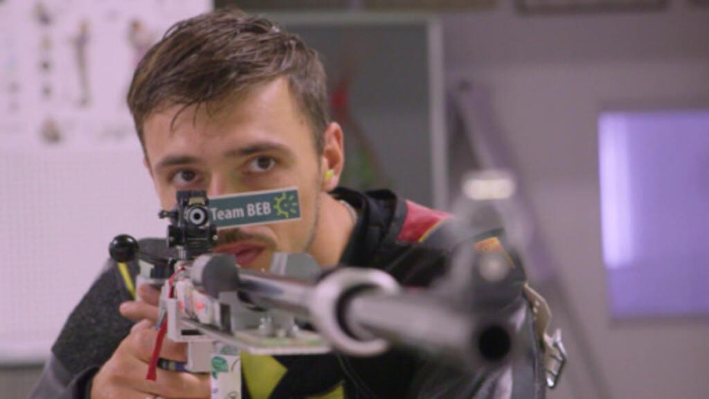 Tim Focken lors d'un entraînement.