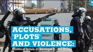 Police clash with protesters in Dakar, Senegal, on March 3, 2021.