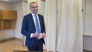 Gudni Johannesson a voté à Reykjavik, le 25 juin 2016.