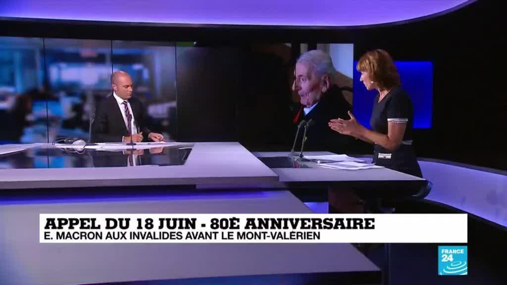 2020-06-18 11:01 Appel du 18 juin 40 : Macron rencontre l'un des quatre derniers compagnons de la libération