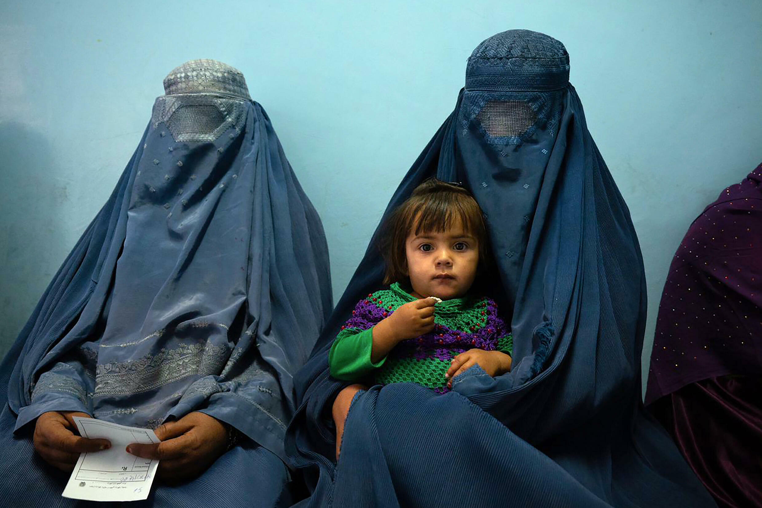 Two women and a child at the clinic, run by the  Swedish Committee for Afghanistan